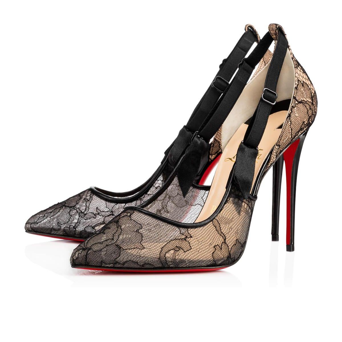 CHRISTIAN LOUBOUTIN Hot Jeanbi 100 Version Black Lace - Women Shoes -  Christian Louboutin.  christianlouboutin  shoes   f2eaa873a68b