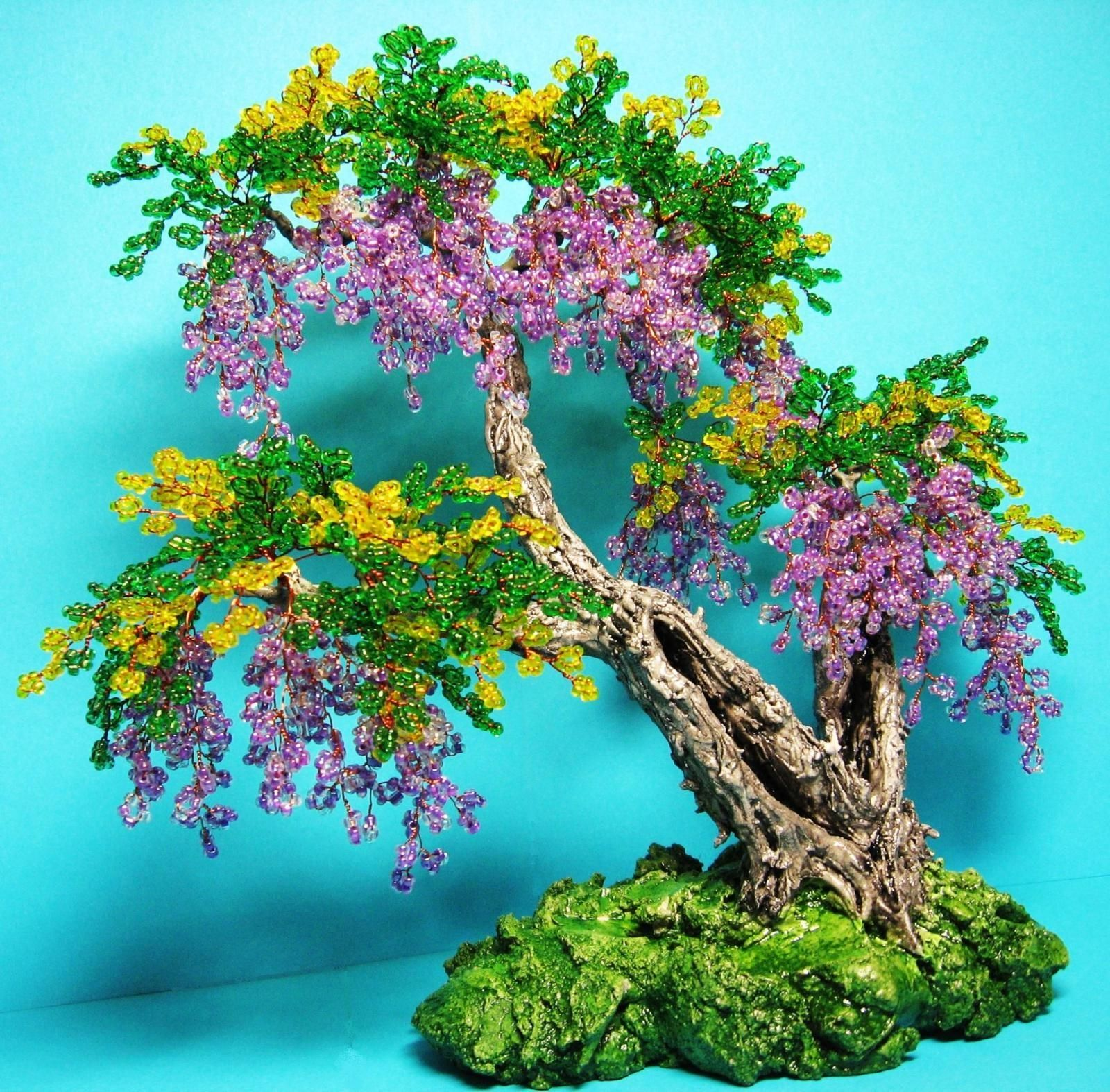 красивые большие деревья из бисера фото составить план мероприятия