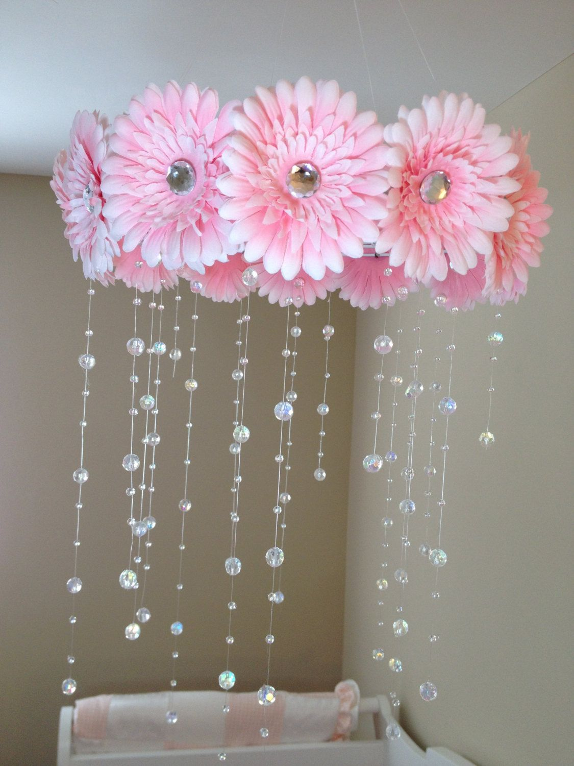 Flower Baby Mobile Baby Girl Mobile Pink Mobile Baby