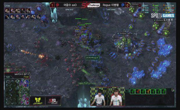 Live Jin Air Ssl Challenge Jjakji Vs Byun And Soo Rogue Starcraft Starcraft2 Sc2 Gamingnews Blizzard