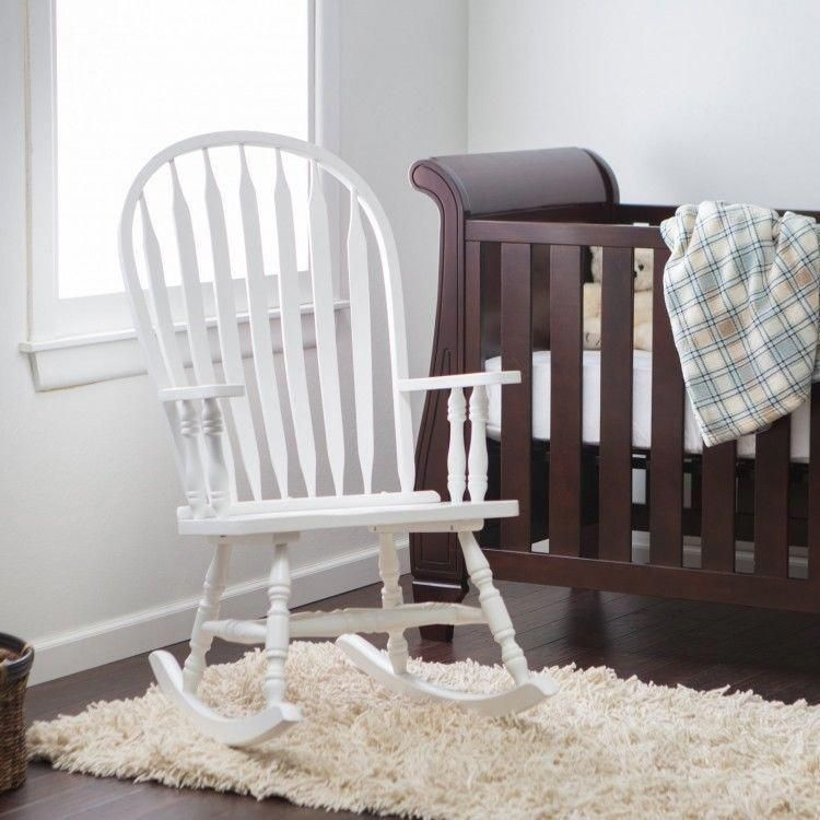 white wood rocking chair nursery chairs for bedrooms cheap indoor wooden baby living room rocker seat furniture devinebestbuys traditional rockingchairnursery