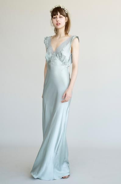 Stunning simple silk Lily Ashwell wedding dress | Wedding Day ...
