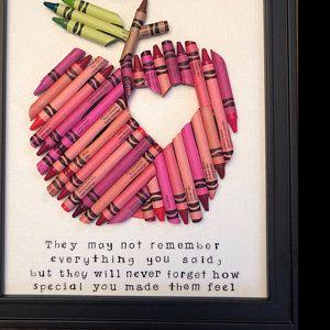 Autism Awareness Puzzle Piece Crayon Art, Wall Art puzzle piece, special eduction teacher gift, Autism quote art, classroom decor