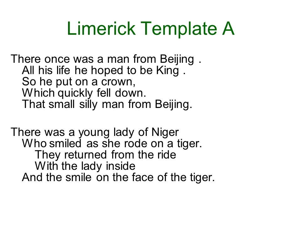 Image result for writing a limerick template – How to Write a Limerick Worksheet