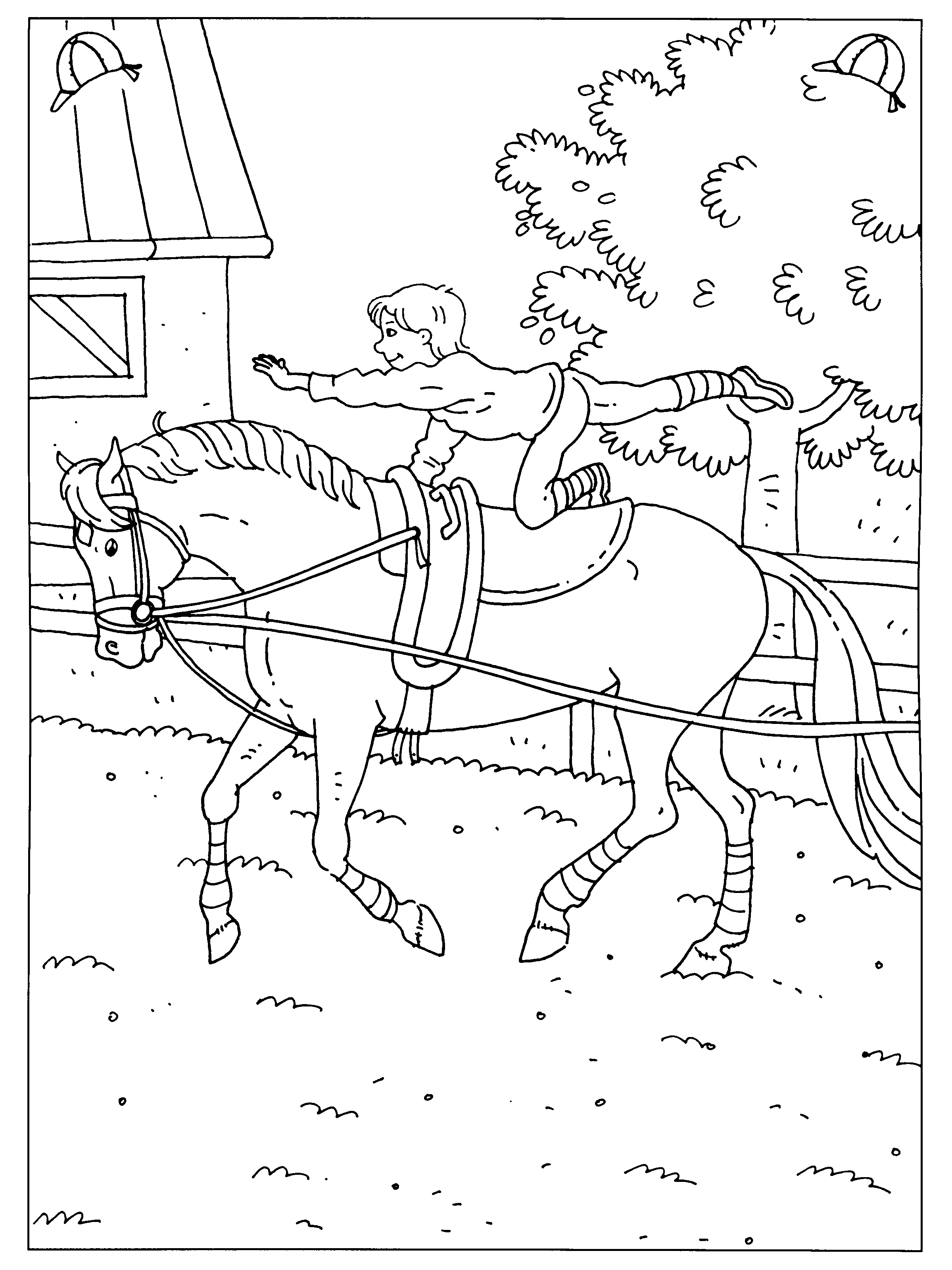 elegante kleurplaten paarden springen krijg duizenden