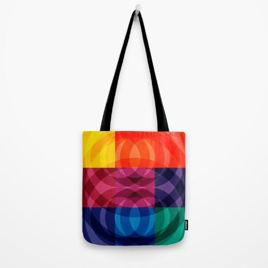 Reflections abstraction art decorative Tote Bag by Emmanuel Signorino #art #fashion #mode #bag #tote_bag #abstract
