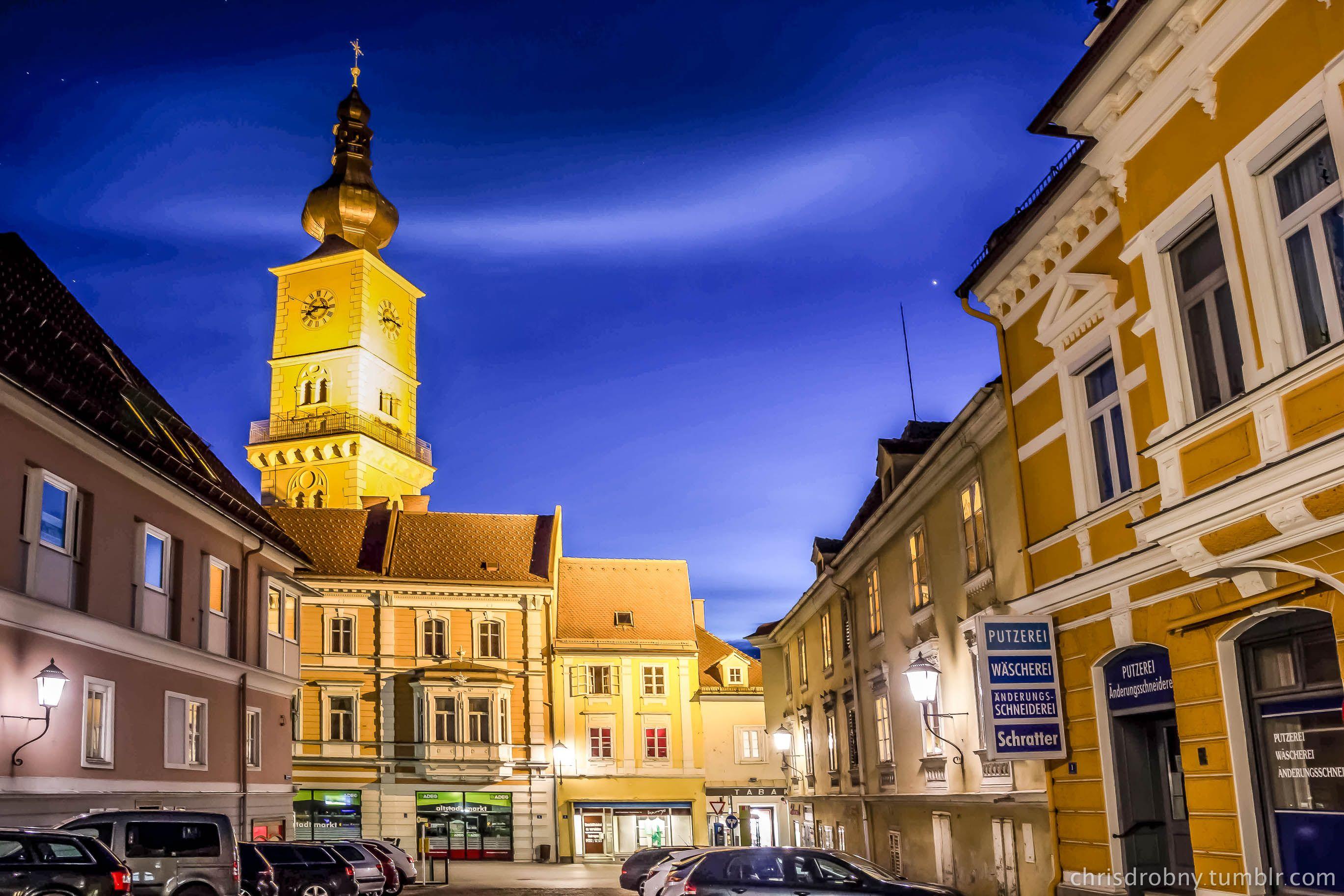Getreidemarkt Und Markuskirche Bei Nacht Nacht Gemeinde Getreide