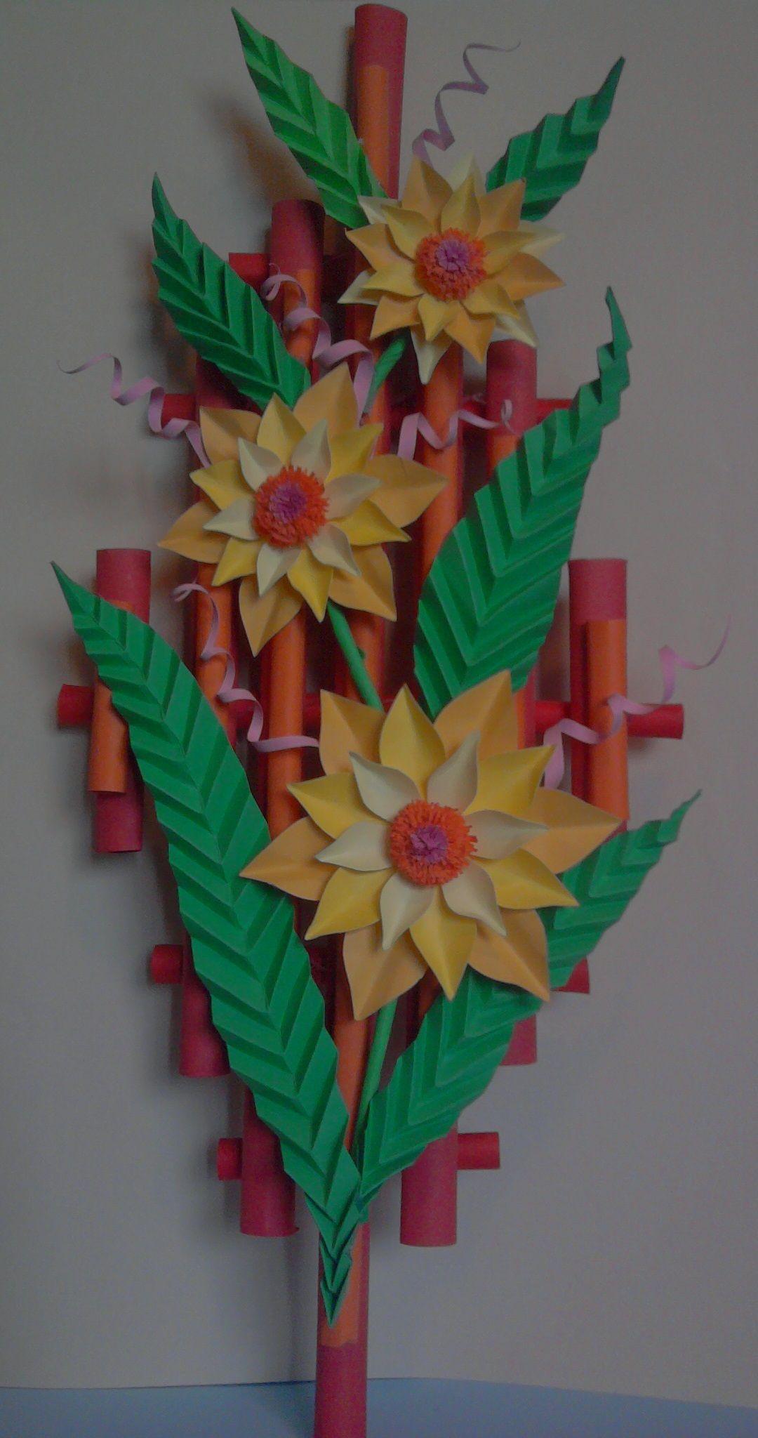 Kwiaty Z Papieru Ikebana Prace Plastyczne Dariusz Zolynski Flowers Paper Paper Flowers Orgiami Ki Origami Patterns Fall Arts And Crafts Paper Flowers