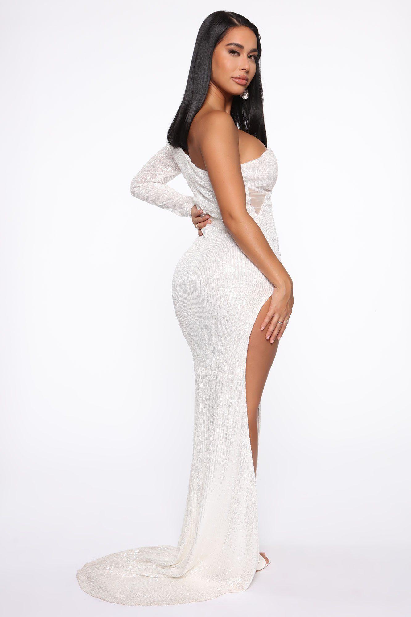 Award show sequin maxi dress white in 2020 sequin maxi