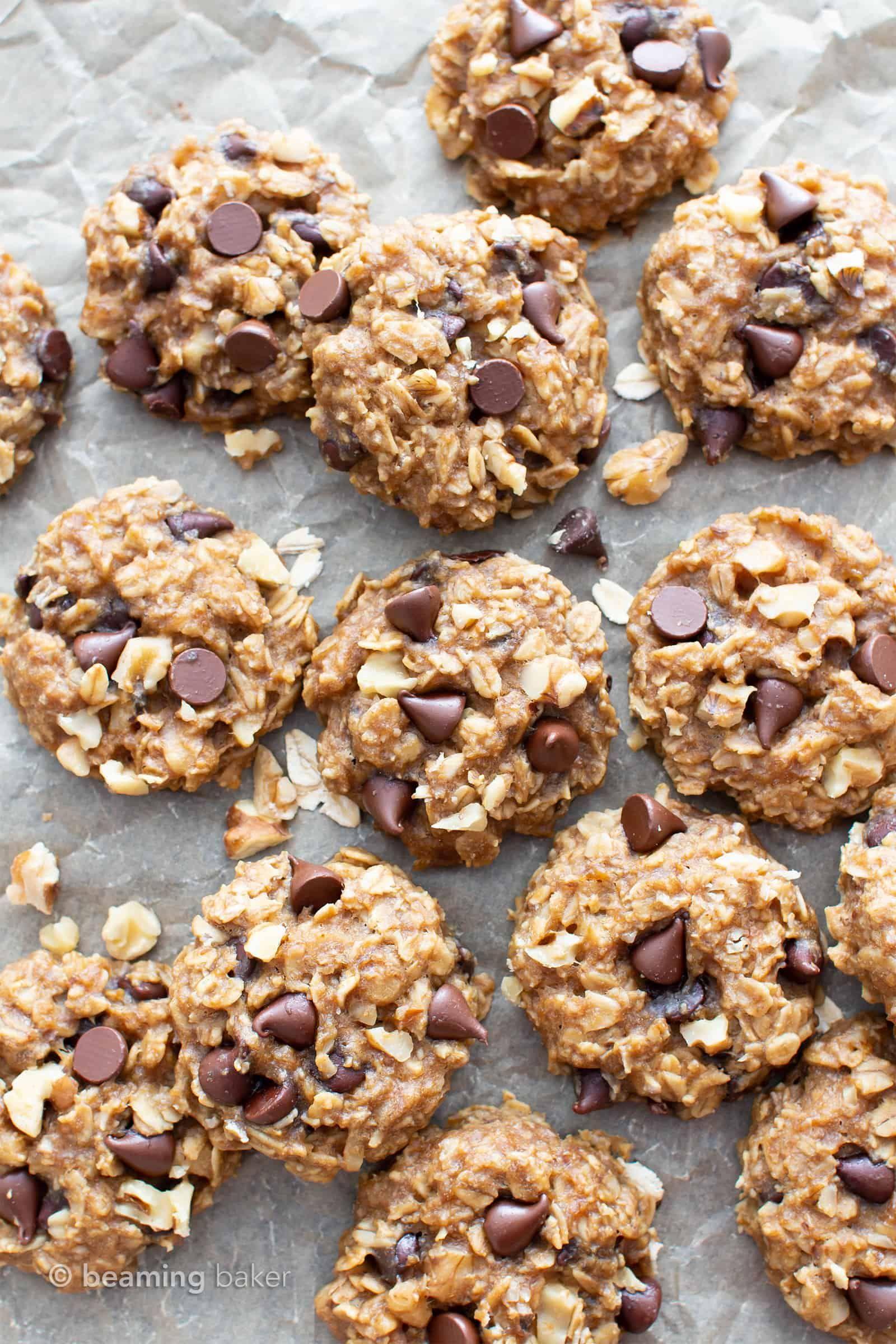 Gluten Free Chocolate Chip Banana Oatmeal Breakfast Cookies