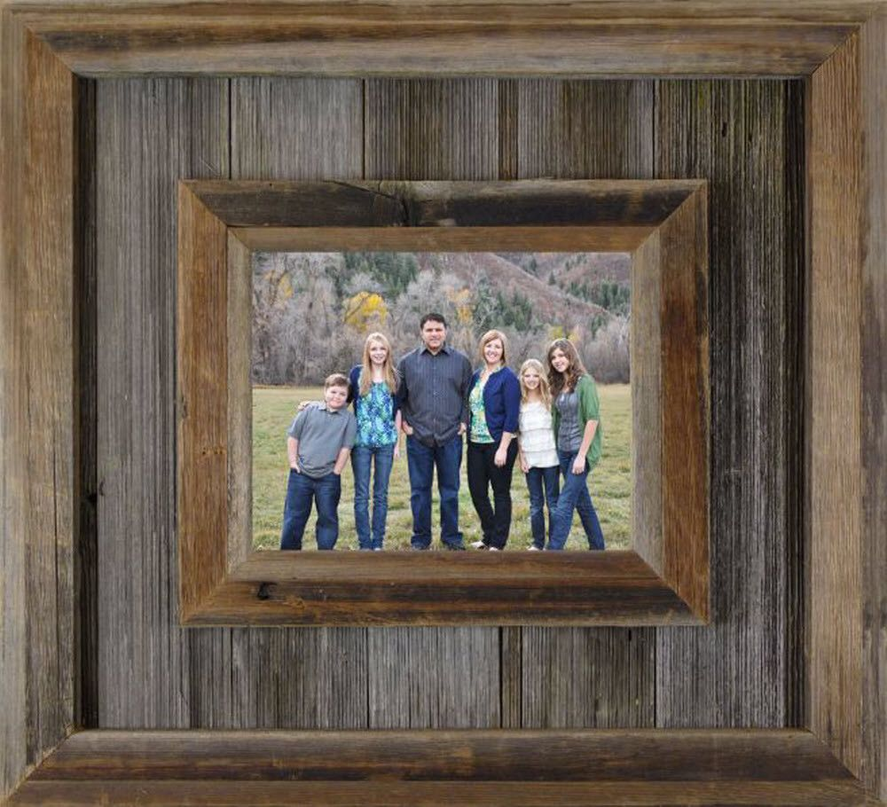 western barn wood durango picture frame large 65 wide 4x6 5x7 6x8