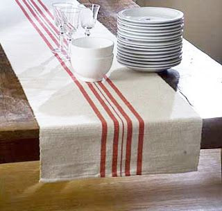 From Here To Zerr Diy French Striped Table Runner Farmhouse