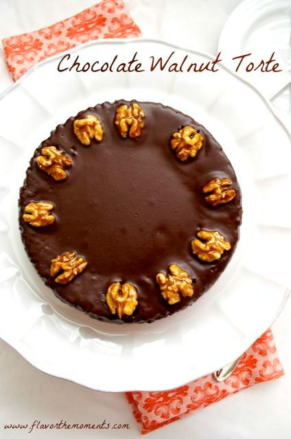 Chocolate Walnut Torte is a decadent, melt in your mouth cake that will satisfy the biggest chocolate cravings. This cake has minimal flour, ground walnuts, chopped brandy-soaked dried apricots, which gives it much more than just chocolate flavor. It's an elegant dessert that will please everyone!