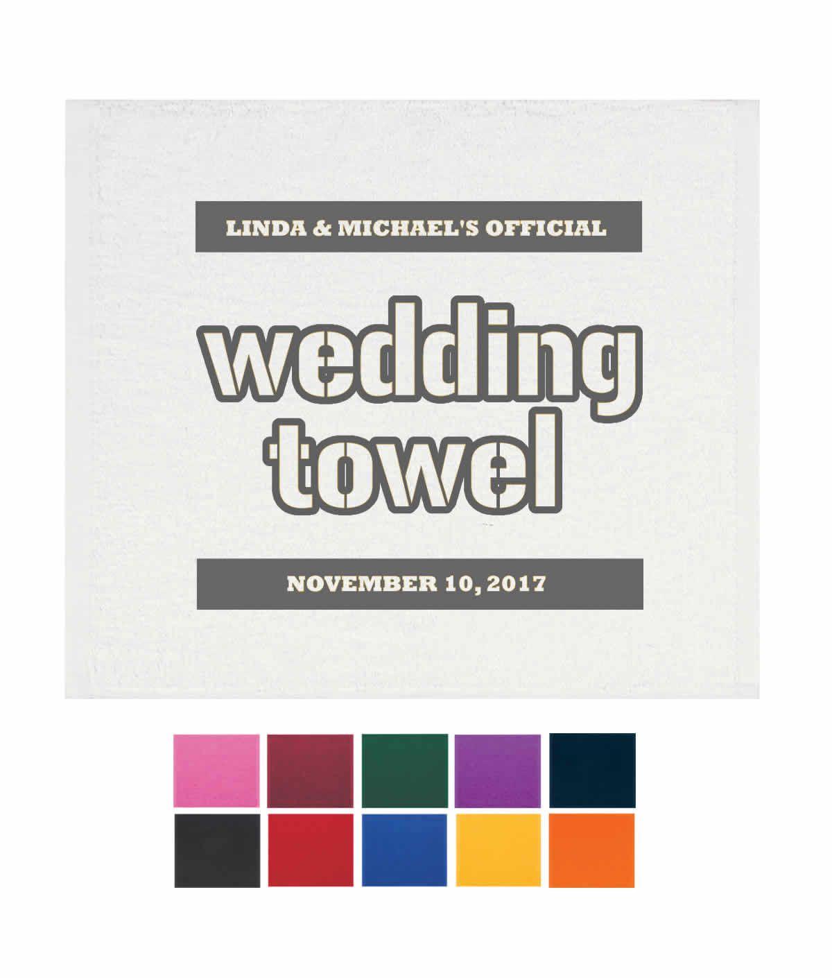 Wedding Rally Towel – FREE Proofs | winter wedding ideas, winter ...