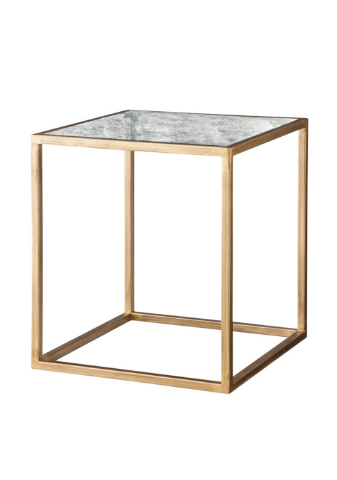 Nate Berkus Gold + Antiqued Glass Accent Table $80. Living Room ... Part 95