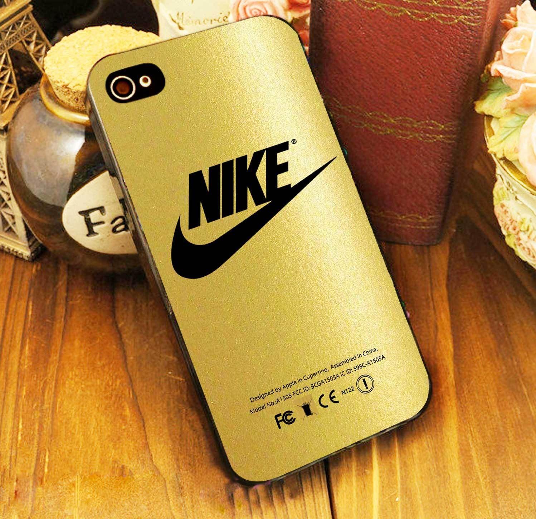 Gold Nike Glitter Case iPhone 4 5 6 6s Plus Samsung S iPod 5 HTC Case