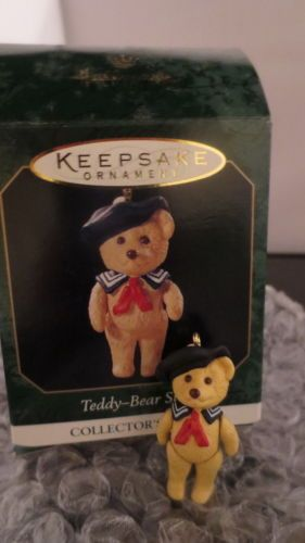 Hallmark Christmas Ornament Grandson 1998 Sailor Bear NIB Free Shipping