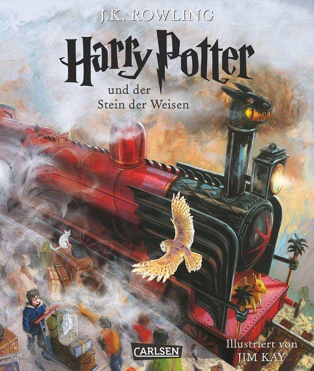 Das Sind Die Ersten Bilder Aus Dem Illustrierten Harry Potter Buch Stein Der Weisen Harry Potter Bucher Kinderbucher