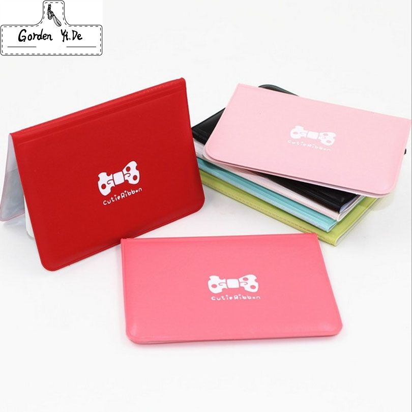 Fashion Women Pu Leather Pocket Business ID Credit Card Holder Cover ...