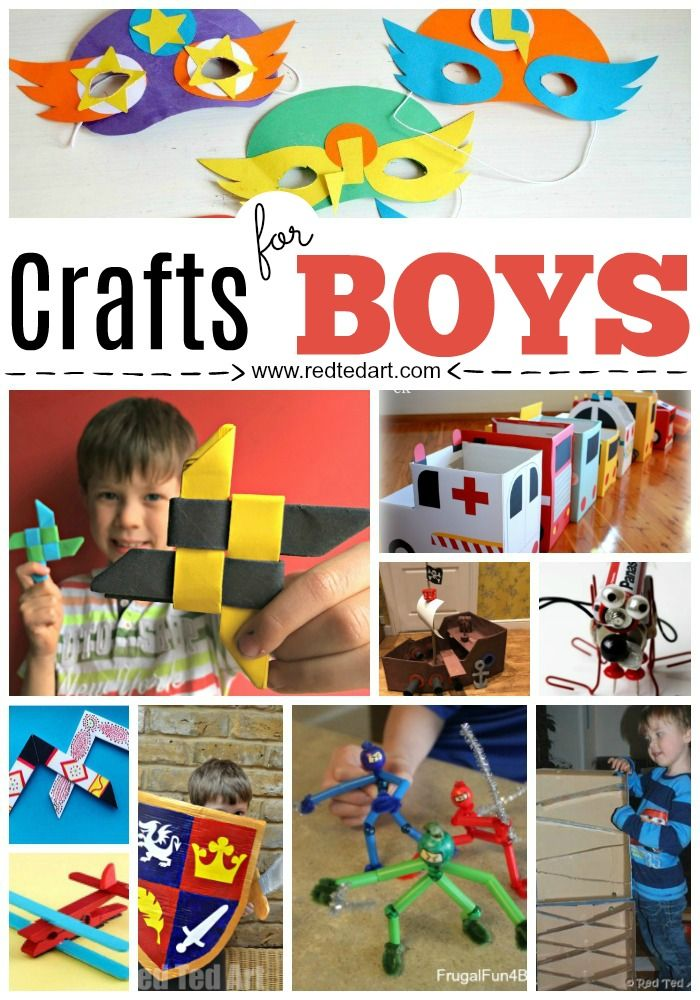 40 Craft Ideas Especially for Boys. Best Crafts for Boys - crafting with boys can be tricky at times. Here are some fantastic Boys Crafts to make all ages