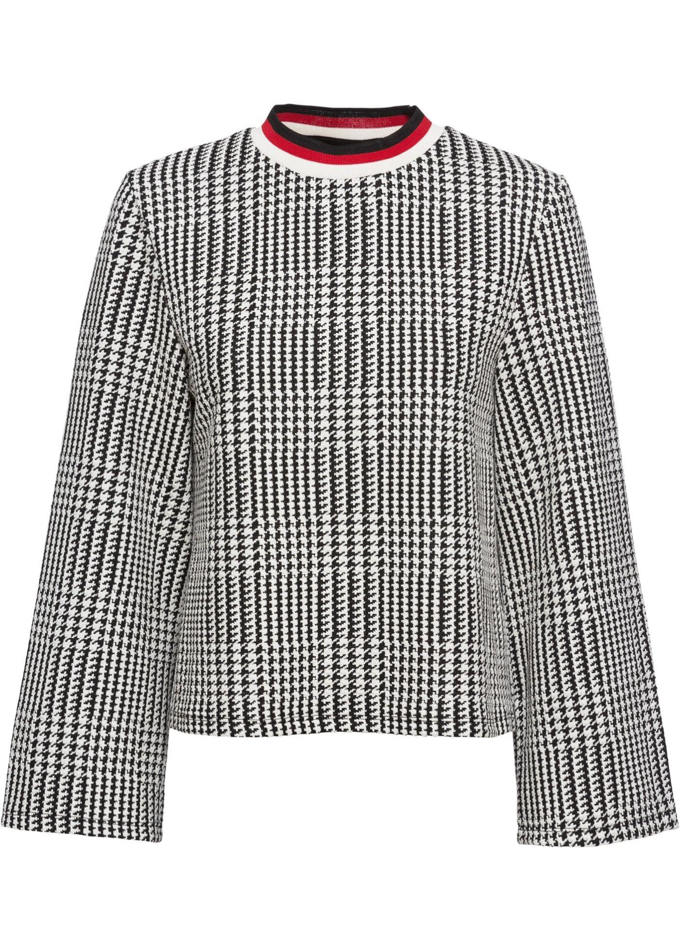 Im Trendy Design Und Mit Einem Tollen Karomuster Prasentiert Sich Dieser Stylishe Kurzpullover Der Coole Pullover Begei Coole Pullover Kurze Pullover Pullover