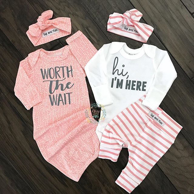 d29af8782a95 Baby girl pink and white newborn sets-handmade