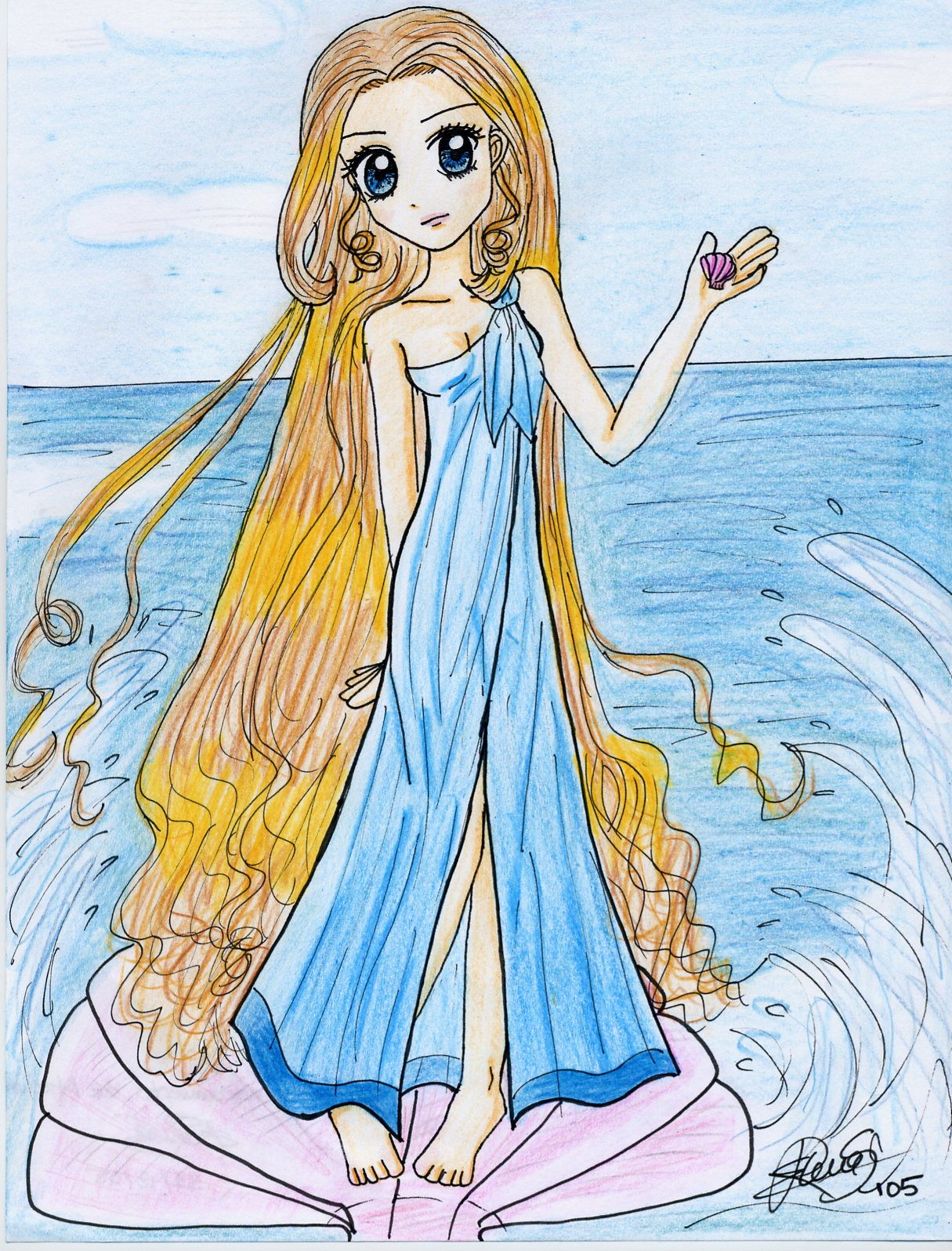 Aphrodite, the Greek goddess of love and beauty ...