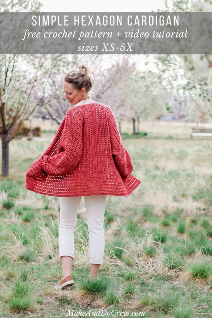 Easy Crochet Cardigan Video Tutorial Free Pattern Made From Two