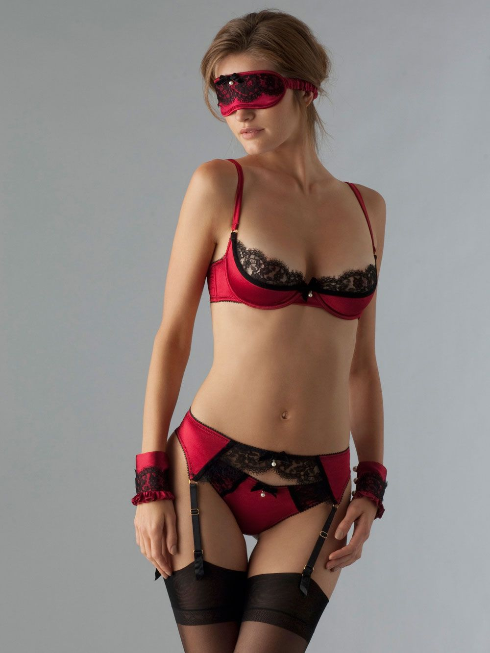 ab2e32cc952ef Red and black lace lingerie - Myla Marlene Set | Luxurious Lingerie ...