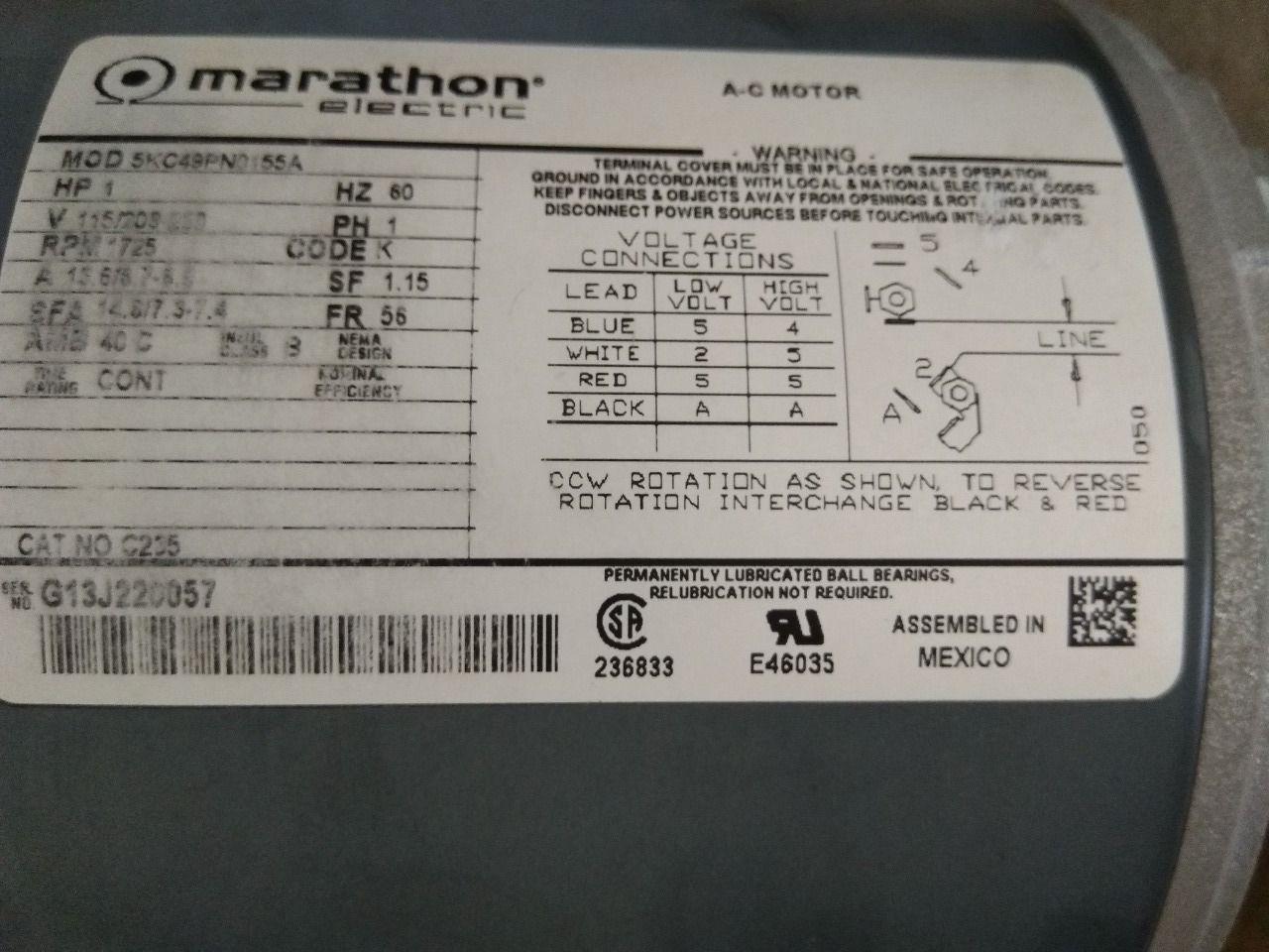 Marathon Electric C235    5kc49pn0155 Motor