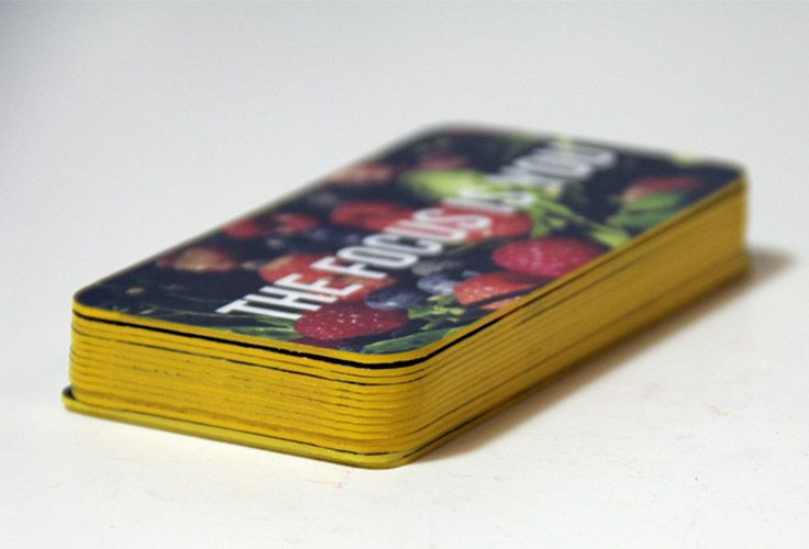 Yellow edge painted business cards with rounded corners printed by yellow edge painted business cards with rounded corners reheart Gallery