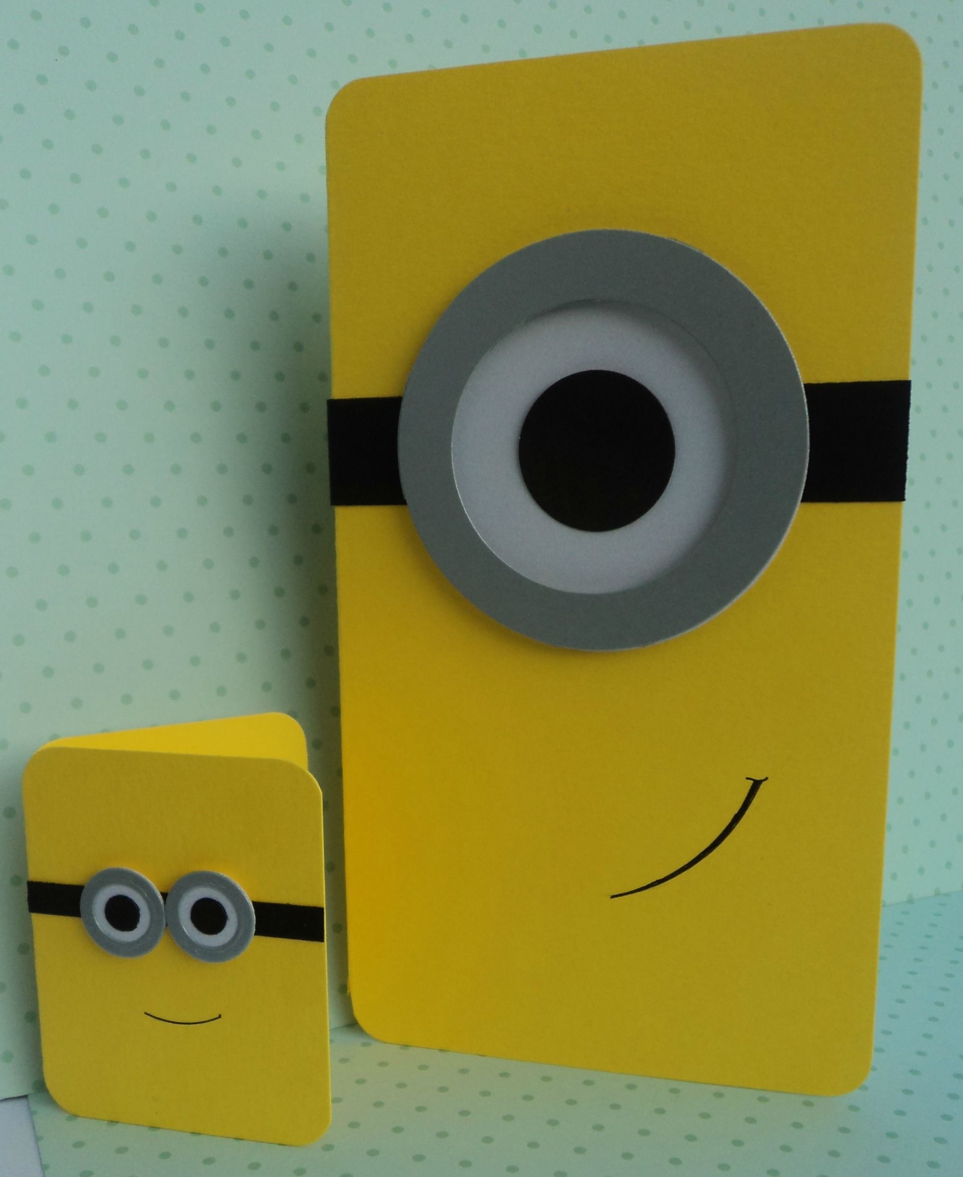 Minion Card And Gift Tag The Supermums Craft Fair Kids Cards