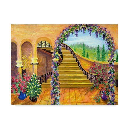 Trademark Fine Art 'Terrace Garden' Canvas Art by Bonnie B Cook, Size: 14 x 19, Brown    Between the spacious terrace and the lawn there is a wide, not yet planted strip of beds, which is waiting to be made colorful.    Strong colours in the terrace bed  The owners of this garden want more momentum on the green area in front of their terrace, but do not want to have to look at opaque green walls. We therefore recomm... #Art #Bonnie #Canvas #Cook #Fine #Garden #Terrace #Trademark #Walmartcom