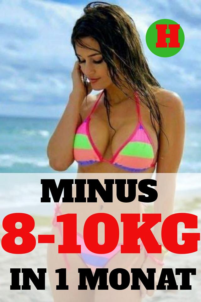 Rezepte, um in einem Monat Gewicht zu verlieren, was
