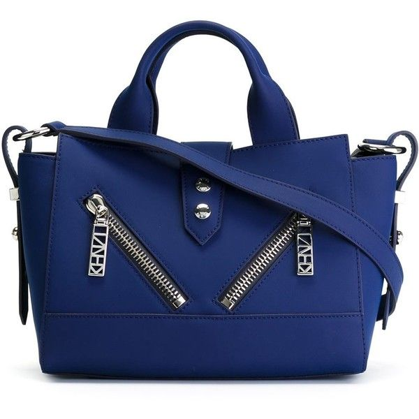 Kenzo Kalifornia Tote ($452) ❤ liked on Polyvore featuring bags, handbags, tote bags, blue, tote hand bags, kenzo handbags, tote handbags, zip top tote and blue handbags