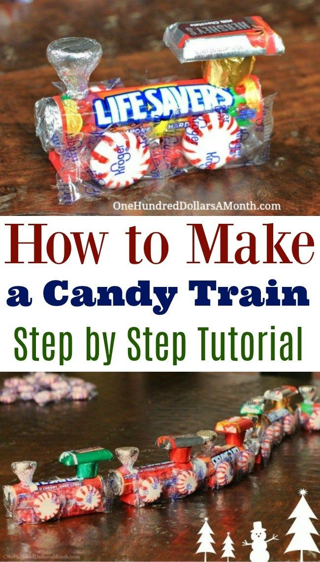 How To Make A Candy Train - Easy Kids Christmas Crafts - One Hundred Dollars a Month