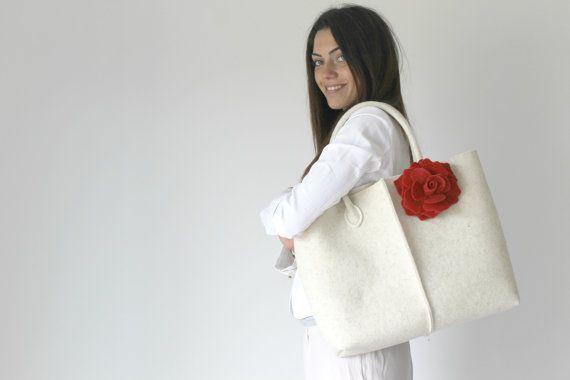 Elegante e Casual Borsa del feltro da Italia Tote Bag di Lefrac