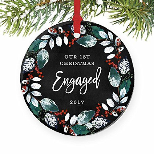 First Christmas Engaged Ornament 2017 1st Christmas Ornament Engagement Pa Our First Christmas Ornament First Christmas Ornament Engagement Christmas Ornament