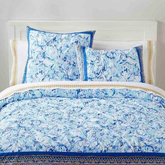 Pottery Barn Teen Lilly Pulitzer Elephant Appeal Duvet Cover Twin