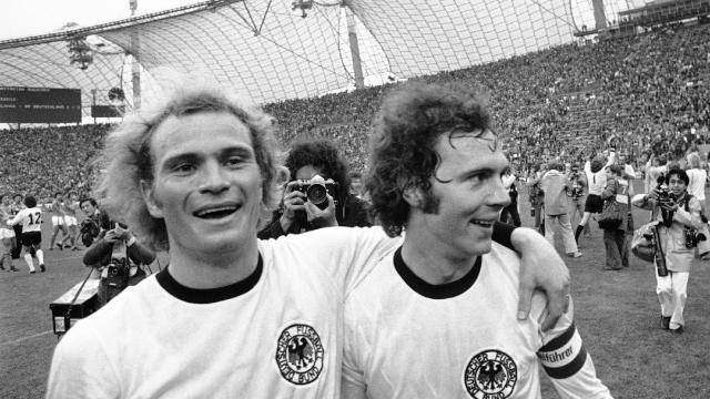 Nationalspieler Hoeness Beckenbauer 1974 Ihr Habts Ja