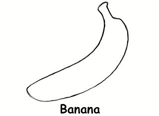 banana colouring page also works very well as a printable banana