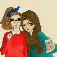 صديقات Girly M Cartoon Pics Girl Humor