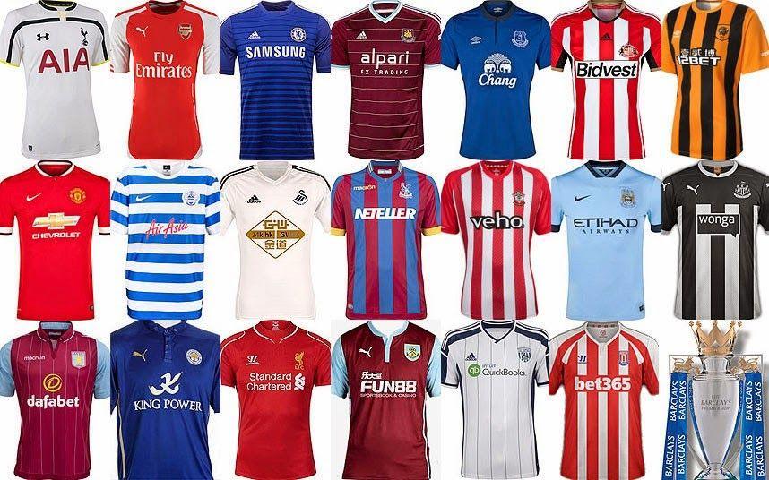 Camisetas de la Premier League 2014-2015