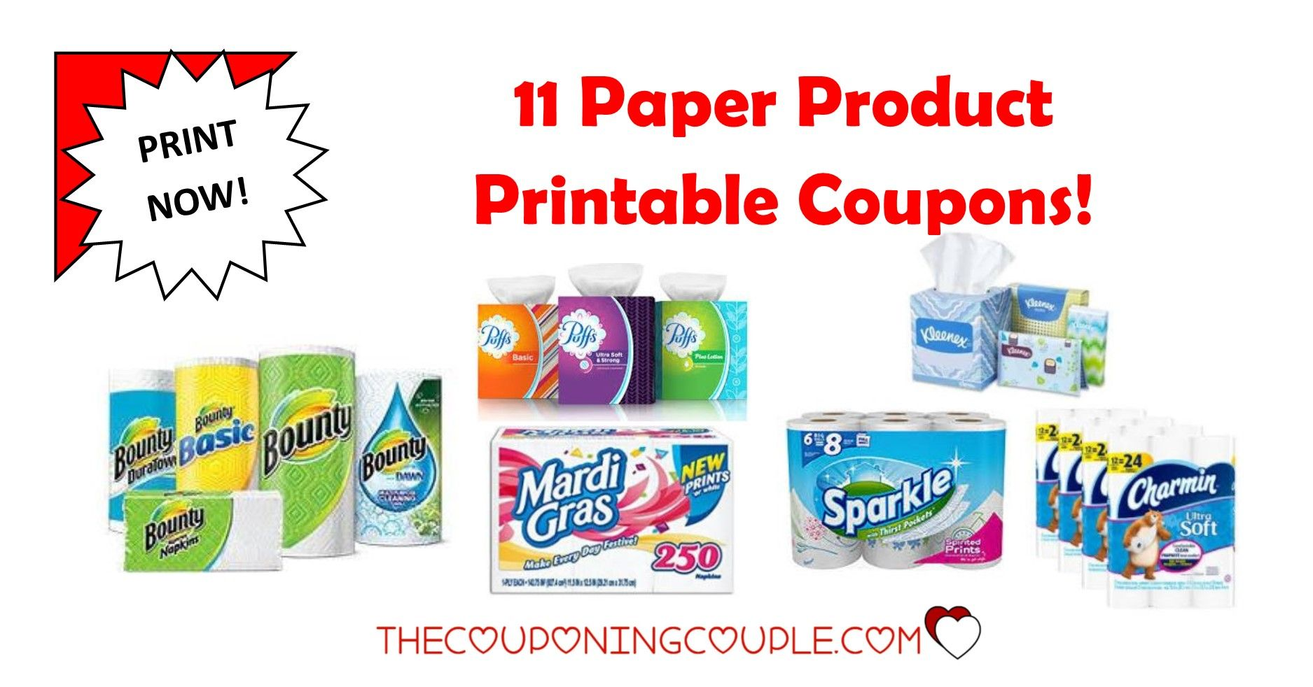 8 paper product printable coupons ~ bounty, cottonelle & more