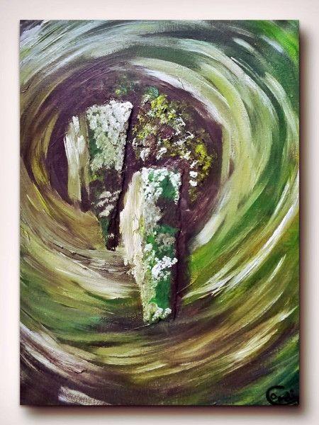 Acrylmalerei - Acrylbild Bagua-Zone Reichtum - ein Designerstück von HOAMELIGundSCHEAN bei DaWanda