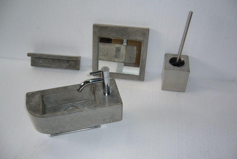 Praxis Toilet Fontein : Solidus toilet inrichting beton fontein spiegel schapje stijl