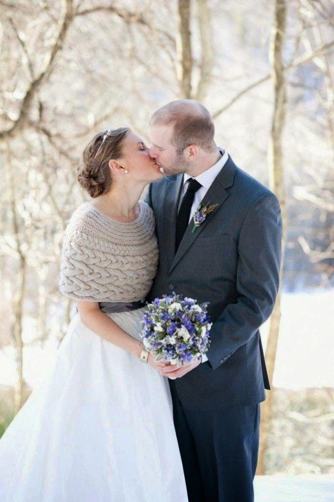 capelina de punto para una novia de invierno! #innovias | boleros