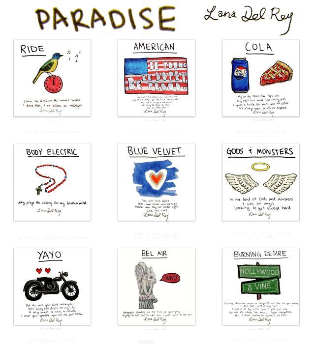 Paradise watercolors - Lana Del Rey