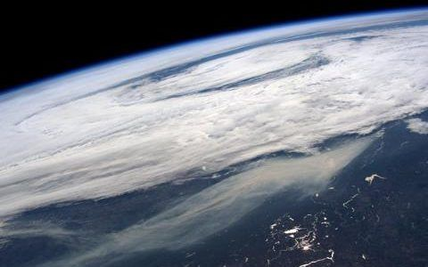 Canadian forest fire as seen from the International Space Station