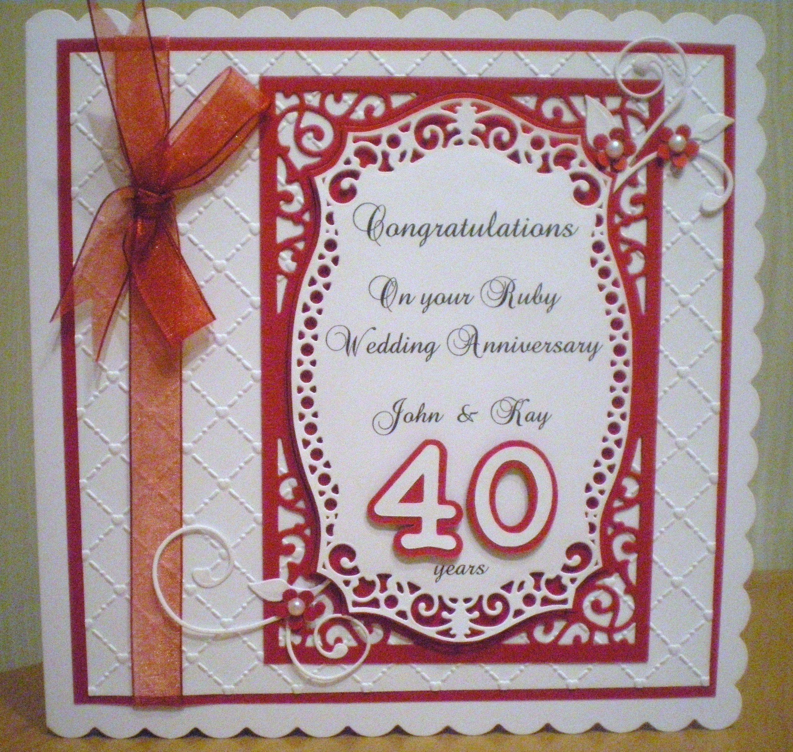 Pin On Wedding Anniversary 2020: Pin On Card Making